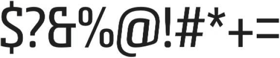 Metronic Slab Narrow Regular otf (400) Font OTHER CHARS