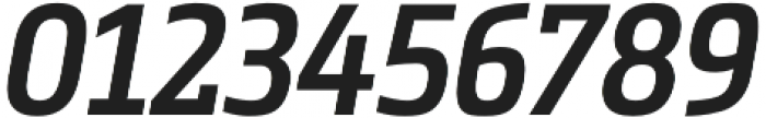 Metronic Slab Narrow SemiBold Italic otf (600) Font OTHER CHARS
