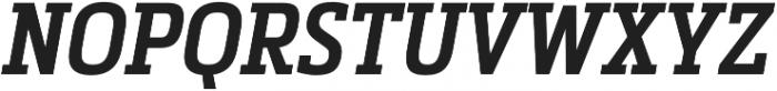 Metronic Slab Narrow SemiBold Italic otf (600) Font UPPERCASE