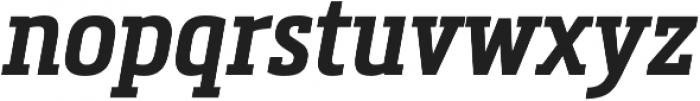 Metronic Slab Narrow SemiBold Italic otf (600) Font LOWERCASE