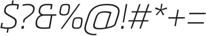 Metronic Slab Pro Air italic otf (400) Font OTHER CHARS
