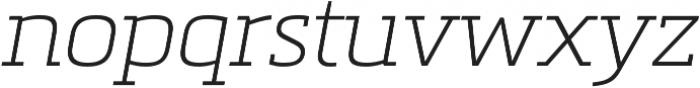 Metronic Slab Pro Air italic otf (400) Font LOWERCASE