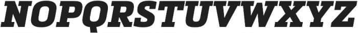 Metronic Slab Pro Black italic otf (900) Font UPPERCASE