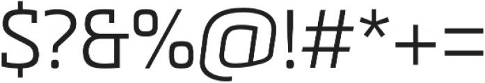 Metronic Slab Pro Light otf (300) Font OTHER CHARS