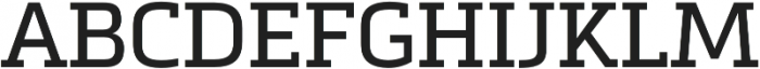 Metronic Slab Pro Regular otf (400) Font UPPERCASE