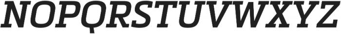 Metronic Slab Pro SemiBold italic otf (600) Font UPPERCASE
