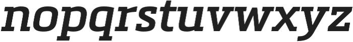 Metronic Slab Pro SemiBold italic otf (600) Font LOWERCASE