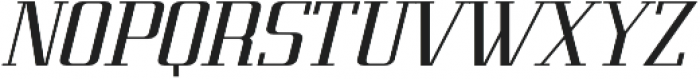 Metropolis Bold Italic otf (700) Font UPPERCASE