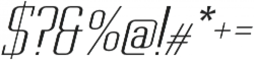 Metropolis Thin Italic otf (100) Font OTHER CHARS