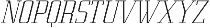 Metropolis Thin Italic otf (100) Font UPPERCASE