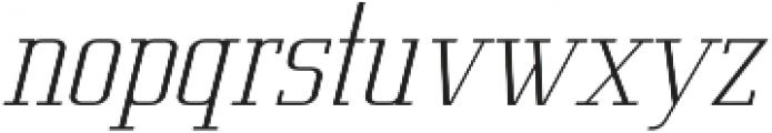Metropolis Thin Italic otf (100) Font LOWERCASE