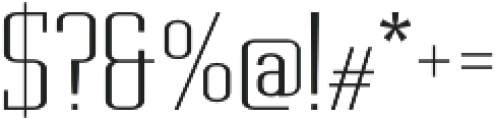 Metropolis Thin otf (100) Font OTHER CHARS