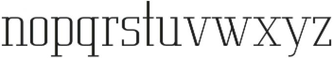 Metropolis Thin otf (100) Font LOWERCASE