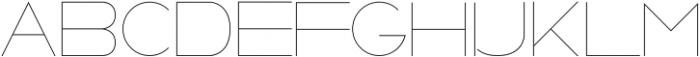 Metros ttf (100) Font UPPERCASE