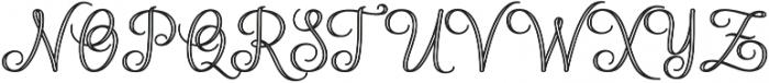 Mettical Regular otf (400) Font UPPERCASE
