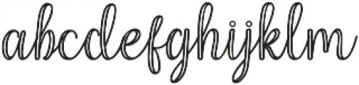 Mettical Regular otf (400) Font LOWERCASE