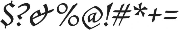 Mezalia Bold Cursive otf (700) Font OTHER CHARS
