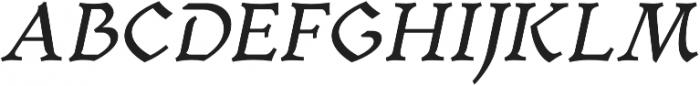 Mezalia Bold Cursive otf (700) Font UPPERCASE