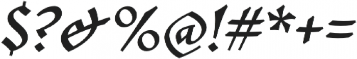 Mezalia Extra Bold Cursive otf (700) Font OTHER CHARS
