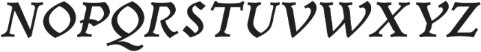 Mezalia Extra Bold Cursive otf (700) Font UPPERCASE