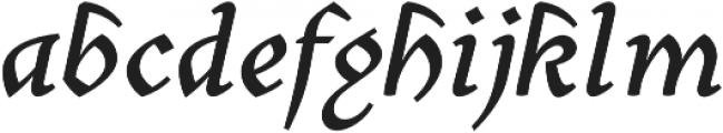 Mezalia Extra Bold Cursive otf (700) Font LOWERCASE