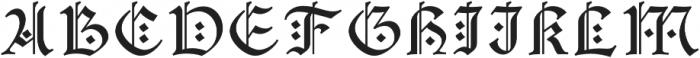 Mezalia_Initials otf (400) Font UPPERCASE