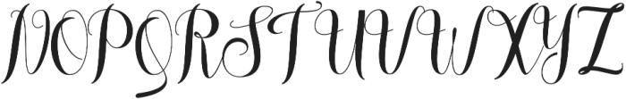 melisca otf (400) Font UPPERCASE