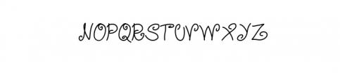 Mellow Yellow Artistic TTF Font UPPERCASE