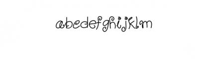 Mellow Yellow Artistic TTF Font LOWERCASE
