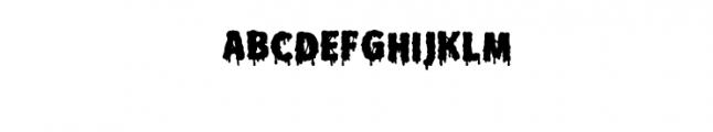 Melt Fill.otf Font UPPERCASE