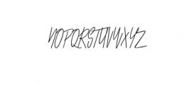Melting.otf Font UPPERCASE