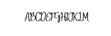 MeryQolby.otf Font UPPERCASE