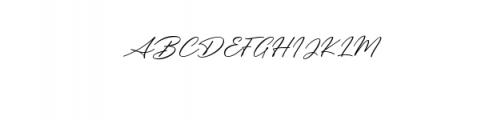 Messy Nessy Script 1.ttf Font UPPERCASE