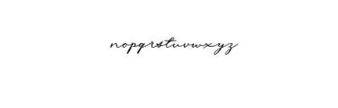 Messy Nessy Script 1.ttf Font LOWERCASE
