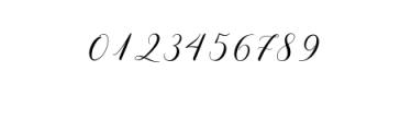 melanie script.otf Font OTHER CHARS