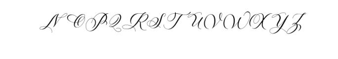 melanie script.otf Font UPPERCASE
