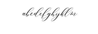 melanie script.otf Font LOWERCASE