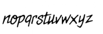 Meanstreets BB Italic Font LOWERCASE