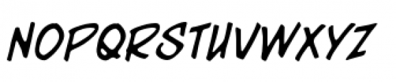 Meanstreets BB Marker Italic Font UPPERCASE