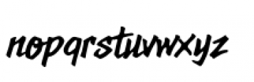Meanstreets BB Marker Italic Font LOWERCASE