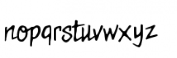 Meanstreets BB Regular Font LOWERCASE