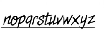 Meanstreets BB Underlined Italic Font LOWERCASE