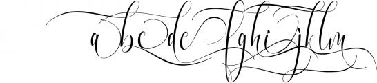 Melamar Calligraphy 1 Font LOWERCASE