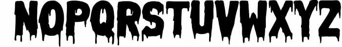 Melted Monster - Halloween Pack Layered Font Font LOWERCASE