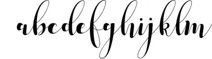 median script Font LOWERCASE