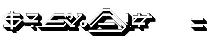 MEGA SLANT LINE 3D Font OTHER CHARS