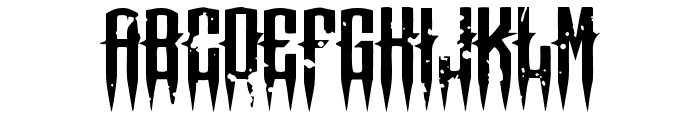 Means of malicE Font UPPERCASE