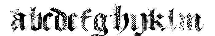 MecaGothix Font LOWERCASE