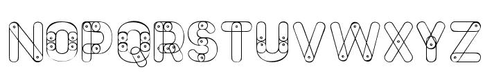 Meccano Font Font UPPERCASE