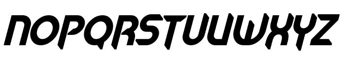 Mech Tech Bold Italic Font LOWERCASE
